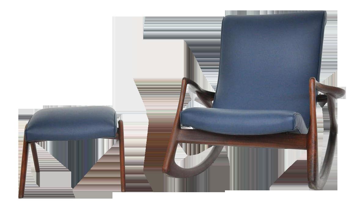 Vladimir Kagan Vladimir Kagan Rocking Chair with Ottoman For Sale - Image 4 of 9  sc 1 st  Decaso & Exquisite Vladimir Kagan Rocking Chair with Ottoman | DECASO