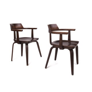 1951 Vintage Walter Gropius for Thonet German Bauhaus W199 Chairs - A Pair Preview