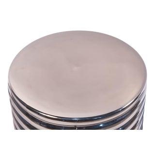 Sarreid Ltd. Silver Barrel Stool/Side Table Preview