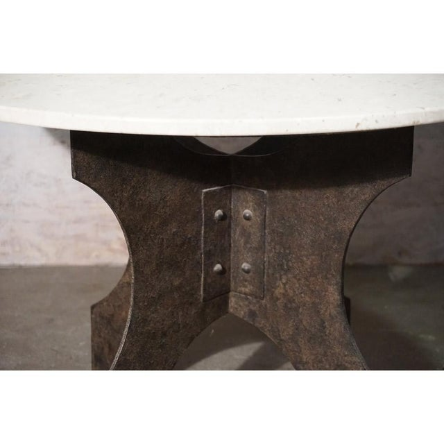 Iron X-Base Dining Table For Sale - Image 4 of 7