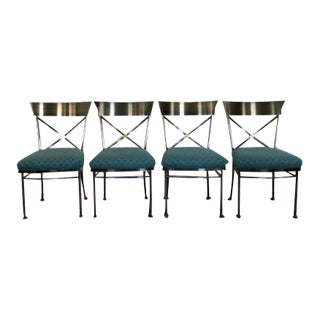 Contemporary Klismos Style Chairs Design Institute of America- Set of 4 For Sale