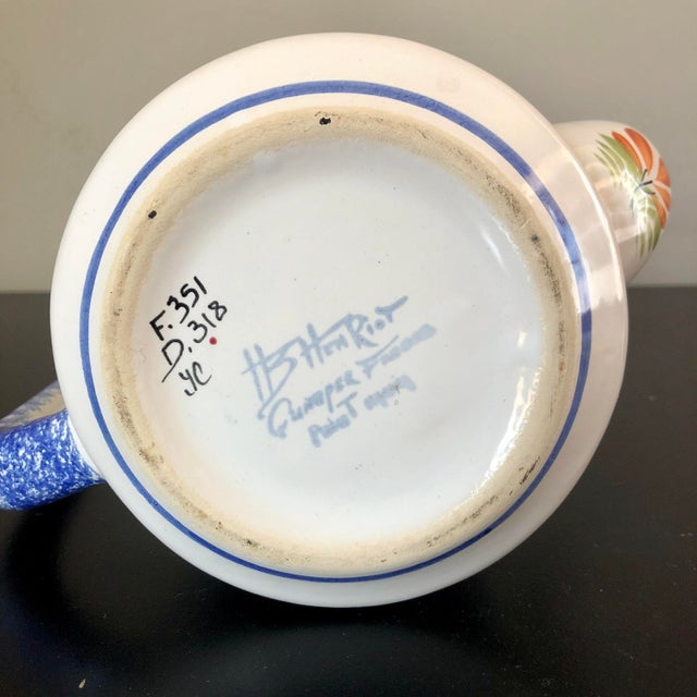 Vintage Henriot Quimper Coffee Pot For Sale In Buffalo - Image 6 of 7