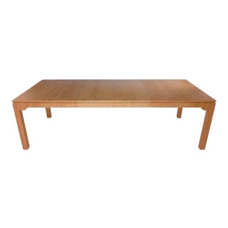 Grasscloth Covered Dining Table For Sale
