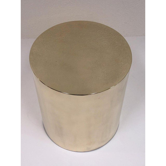 Polish Brass Drum Table by Brueton For Sale In Palm Springs - Image 6 of 8