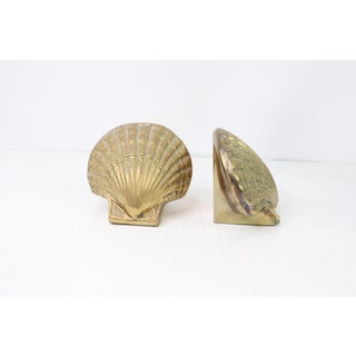 1960s Vintage Nautical Mid Century Modern Solid Brass Seashells Bookends - a Pair Preview