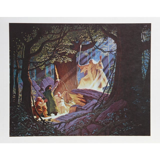 Artist: Brothers Hildebrandt Title: Gandalf the White Year: Circa 1979 Medium: Lithograph, signed and numbered in pencil...