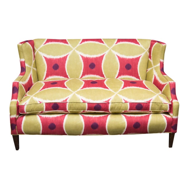 Custom Upholstered Down-Filled Loveseat - Image 1 of 9