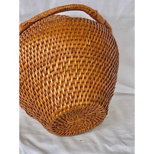 Vintage Large Lidded Basket For Sale - Image 10 of 13