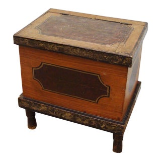 Late 19th Century American Painted Chest For Sale
