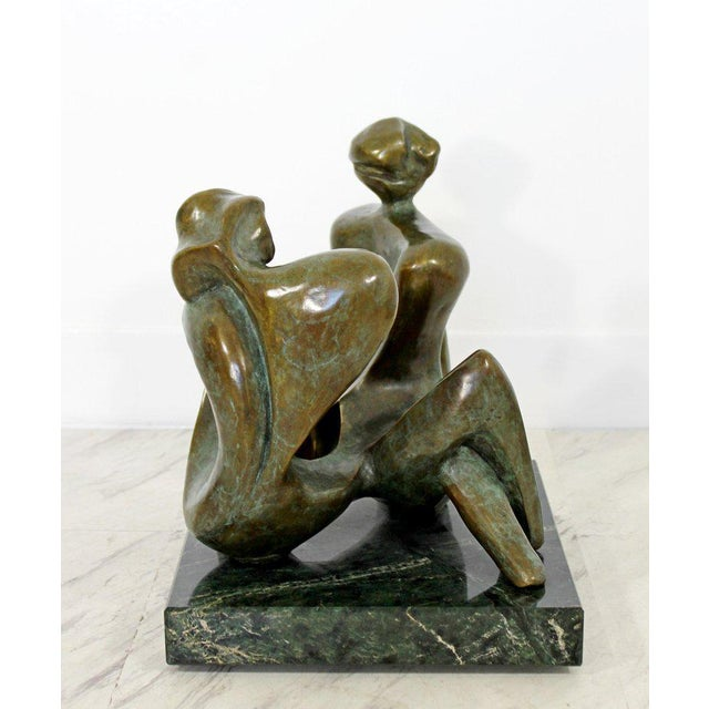 Gold Contemporary Bronze Woman Table Sculpture by Jean Jacques Porret Prologue 2/8 For Sale - Image 8 of 13