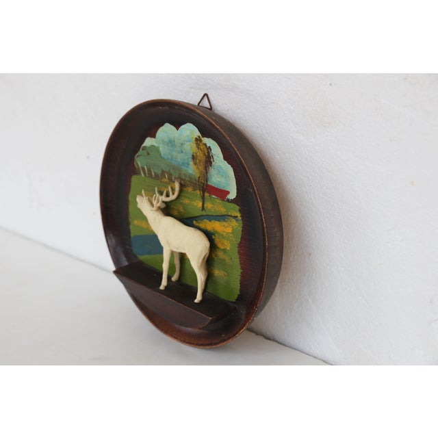 Kitschy Wood Stag Cameo Wall Art - Image 4 of 6