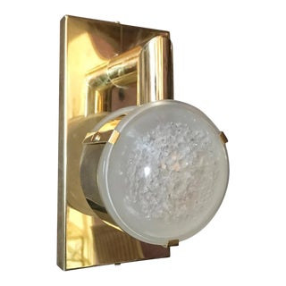 Brass Lens Sconces by Fabio Ltd For Sale