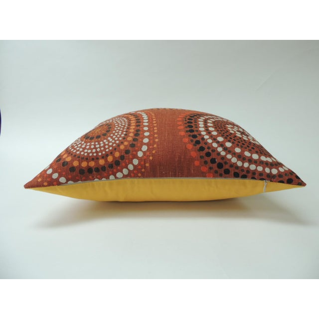 """Mid-Century Modern Modern """"Circles"""" Linen Decorative Pillow For Sale - Image 3 of 6"""