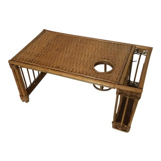 Vintage Rattan Bed Tray For Sale
