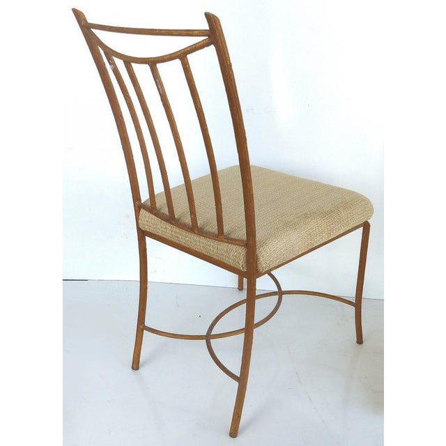 1950s Mid-Century Gilt Iron Faux-Bois Desk Chair by Swaim For Sale - Image 5 of 10