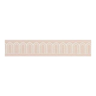 Schumacher X Miles Redd Arches Embroidery Tape Trim in Blush For Sale