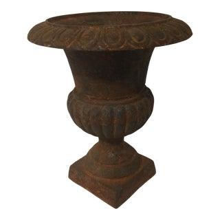 Rusty Cast Iron Urn Planter