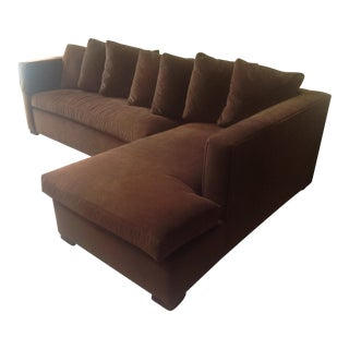 Thomas O'Brien for Hickory Chair Chocolate Brown Chaise Sectional For Sale