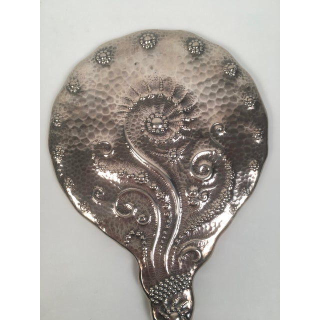 19th Century Sterling Silver Hand Mirror and Hair Brush For Sale - Image 9 of 11
