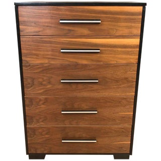 Raymond Loewy for Mengel Walnut Highboy Dresser For Sale