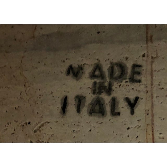 Felt Italian Travertine Block Tables on Plinth Bases, 1970s For Sale - Image 7 of 10
