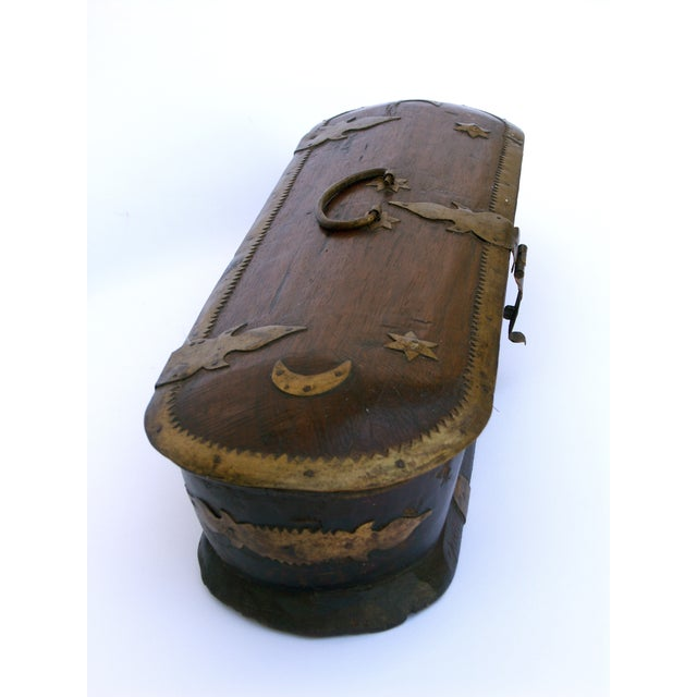 Vintage Wood Kerala Box II For Sale - Image 5 of 9