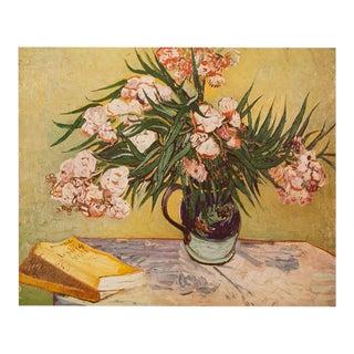 "1950s Vincent Van Gogh, ""Oleanders"" First Edition Vintage Lithograph Print For Sale"