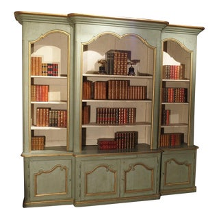 A Grande French Regence Style Painted Bibliotheque From Toulouse For Sale