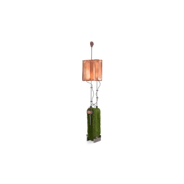 Copper Contemporary Floor Lamp by Belgian Artist Thomas Serruys For Sale - Image 8 of 8