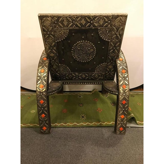 Royal Style Camel Bone Armchair For Sale - Image 9 of 10