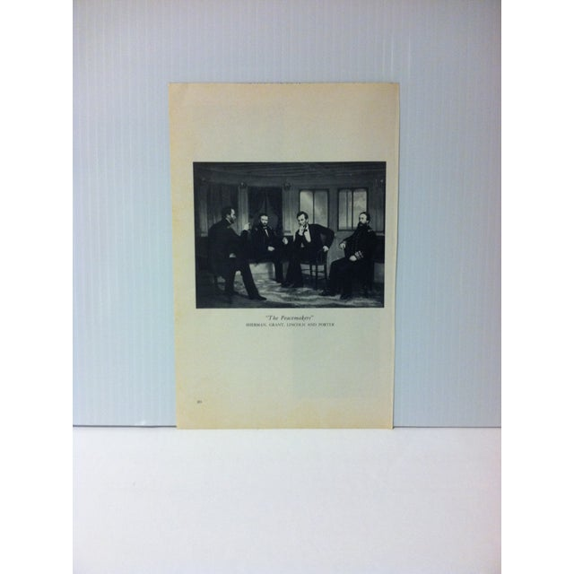 """1954 """"The Peacemakers"""" Famous Figure of the 19th Century Print For Sale - Image 4 of 4"""