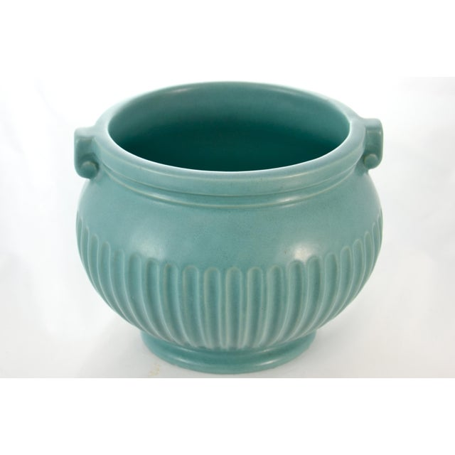 Aqua Fluted Catchall For Sale - Image 4 of 6