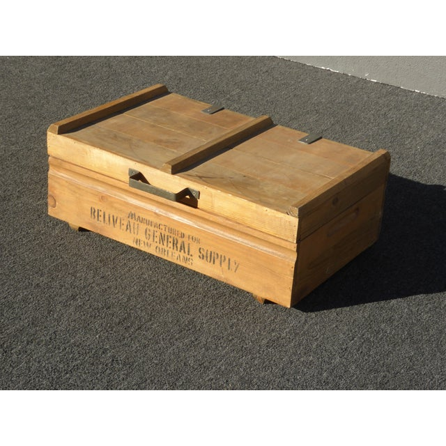 Rustic Vintage Industrial Tools Supplies Storage Box for Beliveau General Supply For Sale - Image 3 of 13