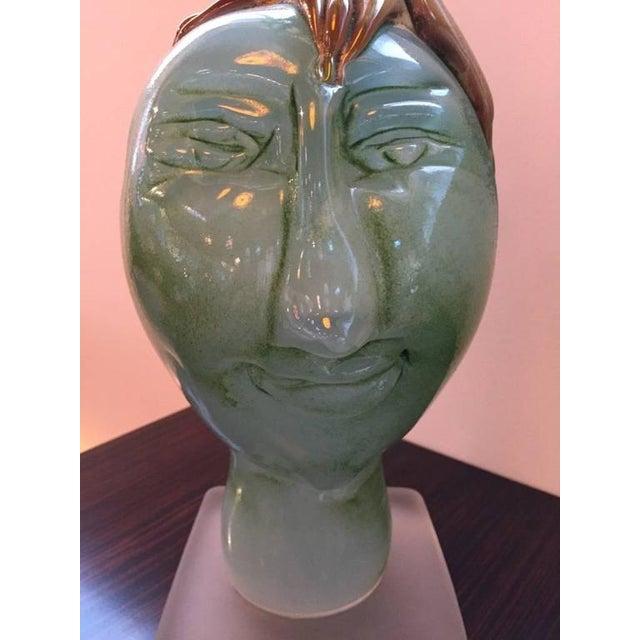 "Handblown Glass Tree Head ""Summer"" Sculpture - Image 4 of 10"