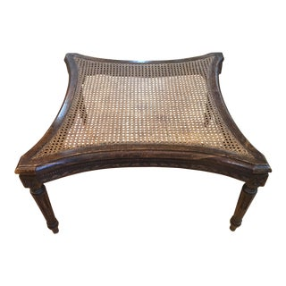 Concave-Sided Louis XVI Cane-Topped Table For Sale