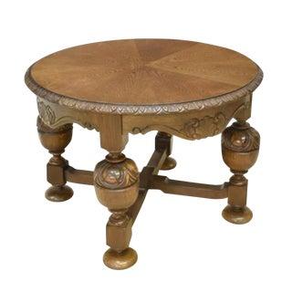 Vintage Dutch Baroque Oak Coffee Table For Sale
