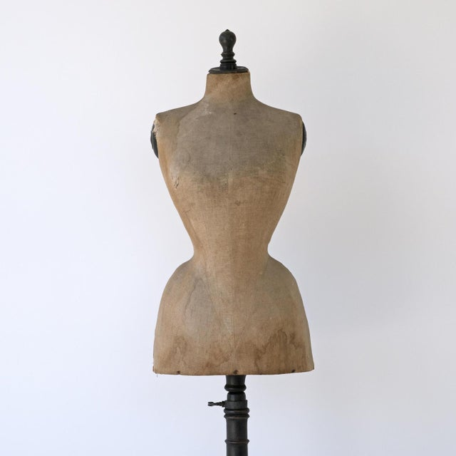 French 19th Century Wasp Waist Stockman Dressmakers Dummy For Sale - Image 3 of 8