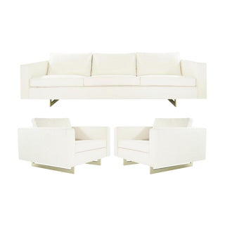 Important Series 65 Sofa and Lounge Chairs Set by Jens Risom, Circa 1950s For Sale