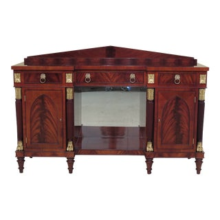 1990s Empire Kindel Winterthur Collection Mahogany Sideboard For Sale