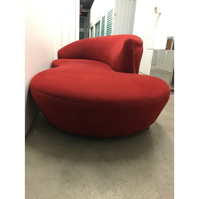 Modern Vladimir Kagan Style Cloud Sofa For Sale - Image 3 of 12