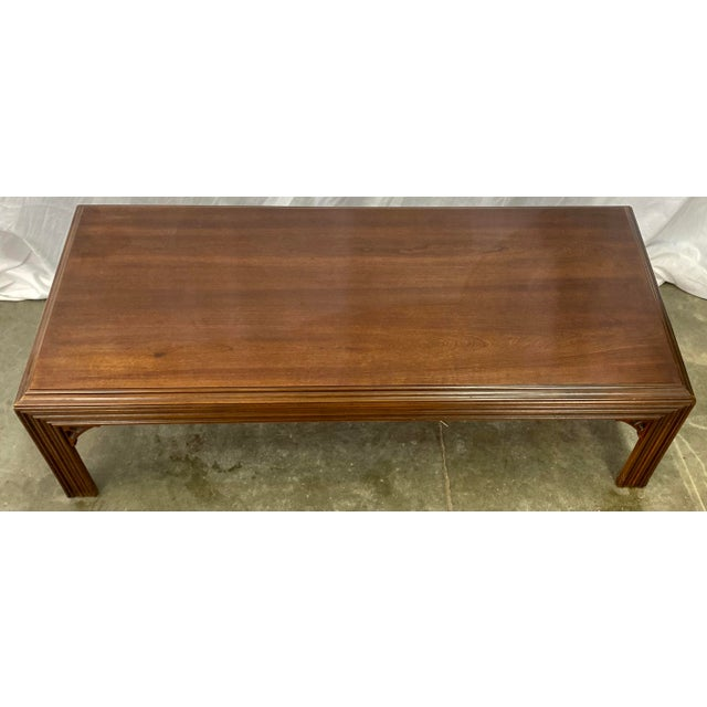 Late 20th Century Vintage Mahogany Lane Altavista Chippendale Coffee Table For Sale - Image 5 of 9