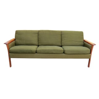 Danish Mid-Century Modern Teak Sofa by Hans Olsen For Sale