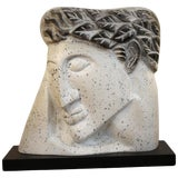 Image of 1960s Vintage Plaster Head on Stand For Sale