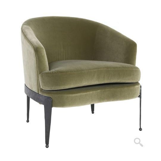 2020s Kenneth Ludwig Chicago Aurelia Green Velvet Chair For Sale - Image 5 of 5
