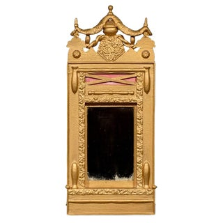 Swedish Victorian Gilded Swag Mirror For Sale