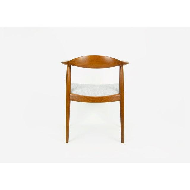 1950s Hans Wegner for Johannes Hansen Teak Round Arm Chair For Sale - Image 5 of 13
