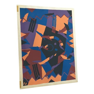 Abstract Serigraph Print, Signed by Douglas Leichter For Sale