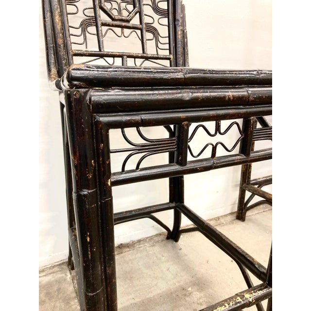 Brighton Bamboo Counter Chairs - a Pair For Sale In Los Angeles - Image 6 of 11