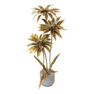 Mid Century Brass Dragon Tree For Sale