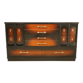 """20th Century Stylemaker Furniture Contemporary Modern 56"""" Two-Tone Cordovan Mahogany Dresser - 324-16 For Sale"""